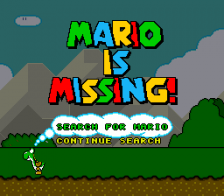 Mario Is Missing! title screenshot