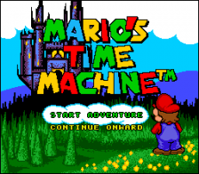 Mario's Time Machine title screenshot