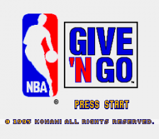 NBA Give 'n Go title screenshot
