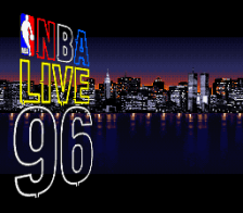 NBA Live' 96 title screenshot