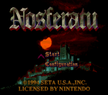 Nosferatu title screenshot