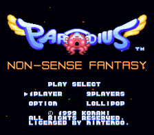 Parodius - Non-Sense Fantasy title screenshot