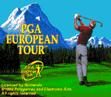 PGA European Tour title screenshot