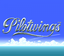 Pilotwings title screenshot
