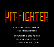 Pit-Fighter title screenshot