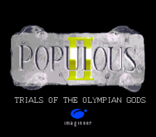 Populous II - Trials of the Olympian Gods title screenshot