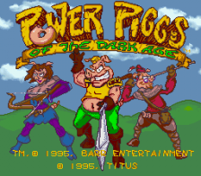 Power Piggs of the Dark Age title screenshot