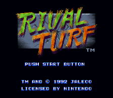 Rival Turf ! title screenshot