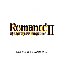 Romance of the Three Kingdoms II title screenshot