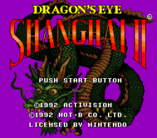 Shanghai II - Dragon's Eye title screenshot