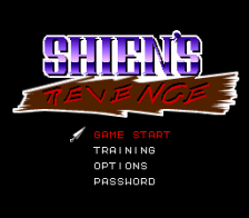 Shien's Revenge title screenshot