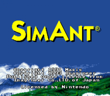 SimAnt - The Electronic Ant Company title screenshot