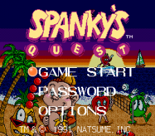 Spanky's Quest title screenshot