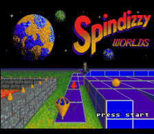 Spindizzy Worlds title screenshot