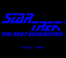 Star Trek - The Next Generation - Future's Past title screenshot