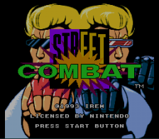 Street Combat title screenshot