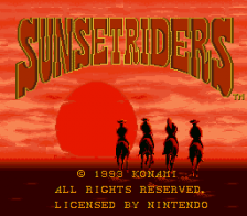 Sunset Riders title screenshot