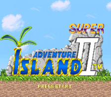 Super Adventure Island II title screenshot