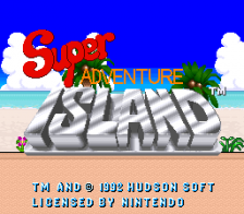 Super Adventure Island title screenshot