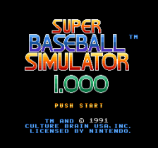 Super Baseball Simulator 1.000 title screenshot