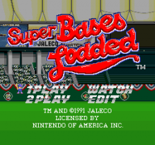 Super Bases Loaded title screenshot