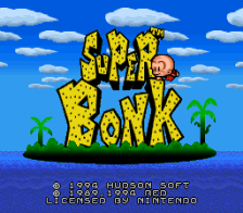 Super Bonk title screenshot
