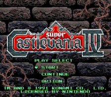 Super Castlevania IV title screenshot
