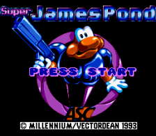Super James Pond title screenshot