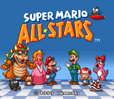 Super Mario All-Stars title screenshot