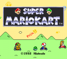 Super Mario Kart title screenshot