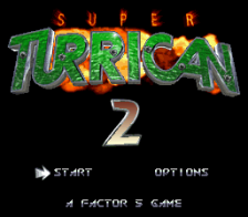 Super Turrican 2 title screenshot