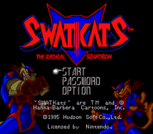 SWAT Kats - The Radical Squadron title screenshot
