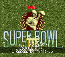 Tecmo Super Bowl III - Final Edition title screenshot