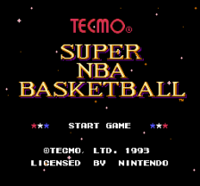 Tecmo Super NBA Basketball title screenshot