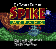 Twisted Tales of Spike McFang, The title screenshot