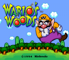 Wario's Woods title screenshot