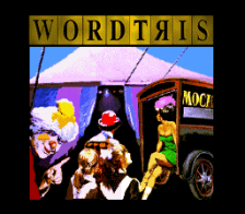 Wordtris title screenshot