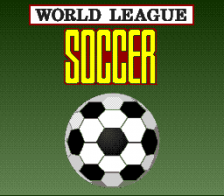 World League Soccer title screenshot