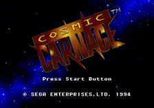 Cyber Brawl ~ Cosmic Carnage title screenshot