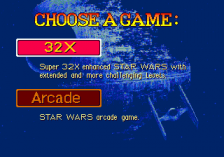 Star Wars Arcade title screenshot