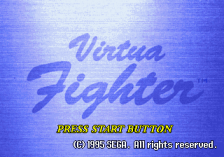Virtua Fighter title screenshot