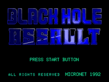 Blackhole Assault title screenshot