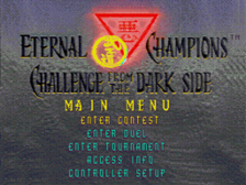Eternal Champions - Challenge from the Dark Side title screenshot