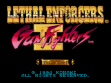 Lethal Enforcers II - Gun Fighters title screenshot
