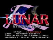 Lunar 2 - Eternal Blue title screenshot