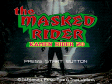 Masked Rider, The - Kamen Rider Zo title screenshot