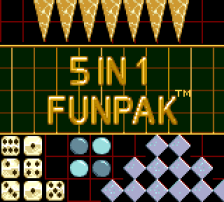 5 in 1 Funpak title screenshot