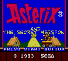 Asterix and the Secret Mission title screenshot