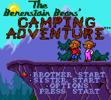 Berenstain Bears' Camping Adventure, The title screenshot