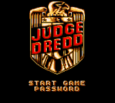 Judge Dredd title screenshot